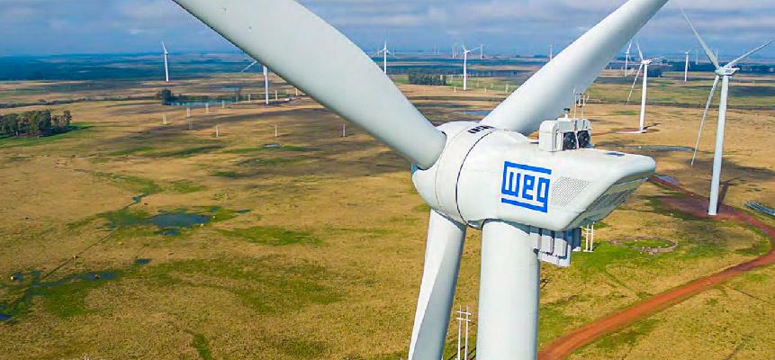 WEG lança novo modelo de turbina de energia eólica, com potência de 4 MW